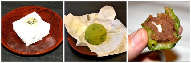 Riisijauhoista ja vihreästä teestä tehty pylpyrä